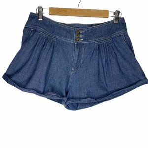 Urban Outfitters BDG Chambray Pleated Front Shorts